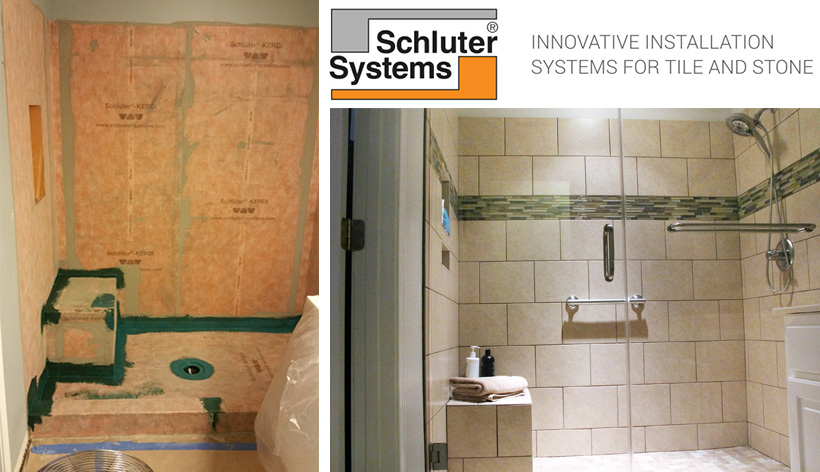 Vision Uses The Schluter Shower System In A Bathroom Remodel