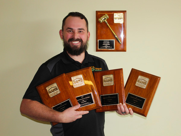 Cody Byrd of Vision Design Build Remodel voted Caldwell County Builder of the Year