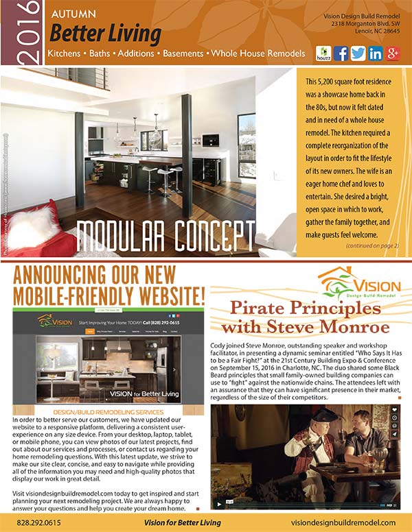 Remodeling Newsletter - Autumn 2016