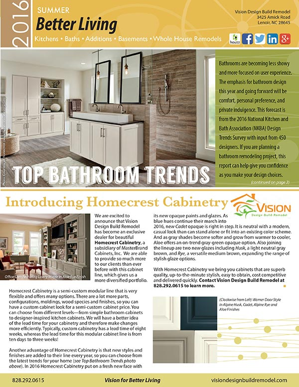 Remodeling Newsletter - Summer 2015