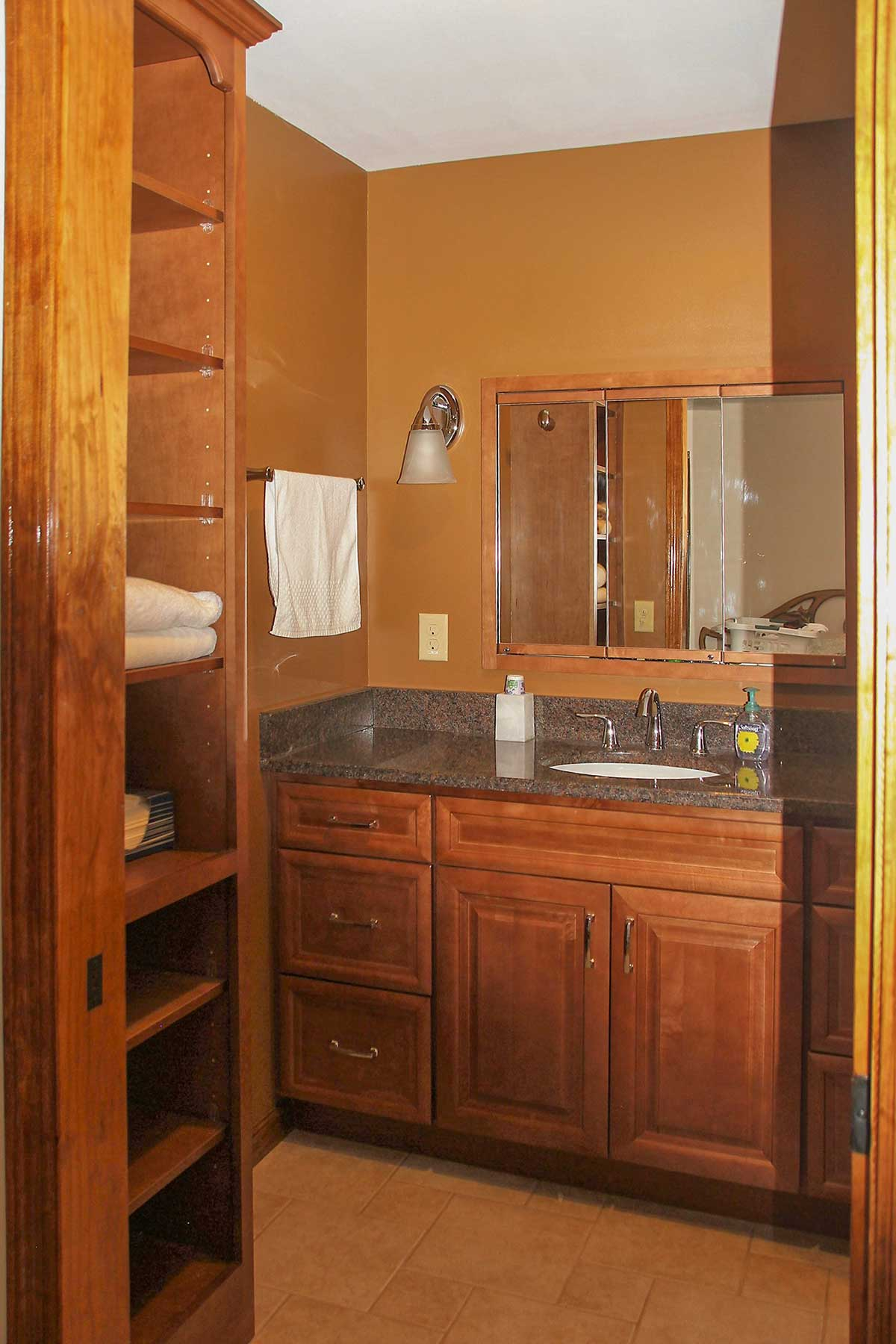 View of bathroom vanity
