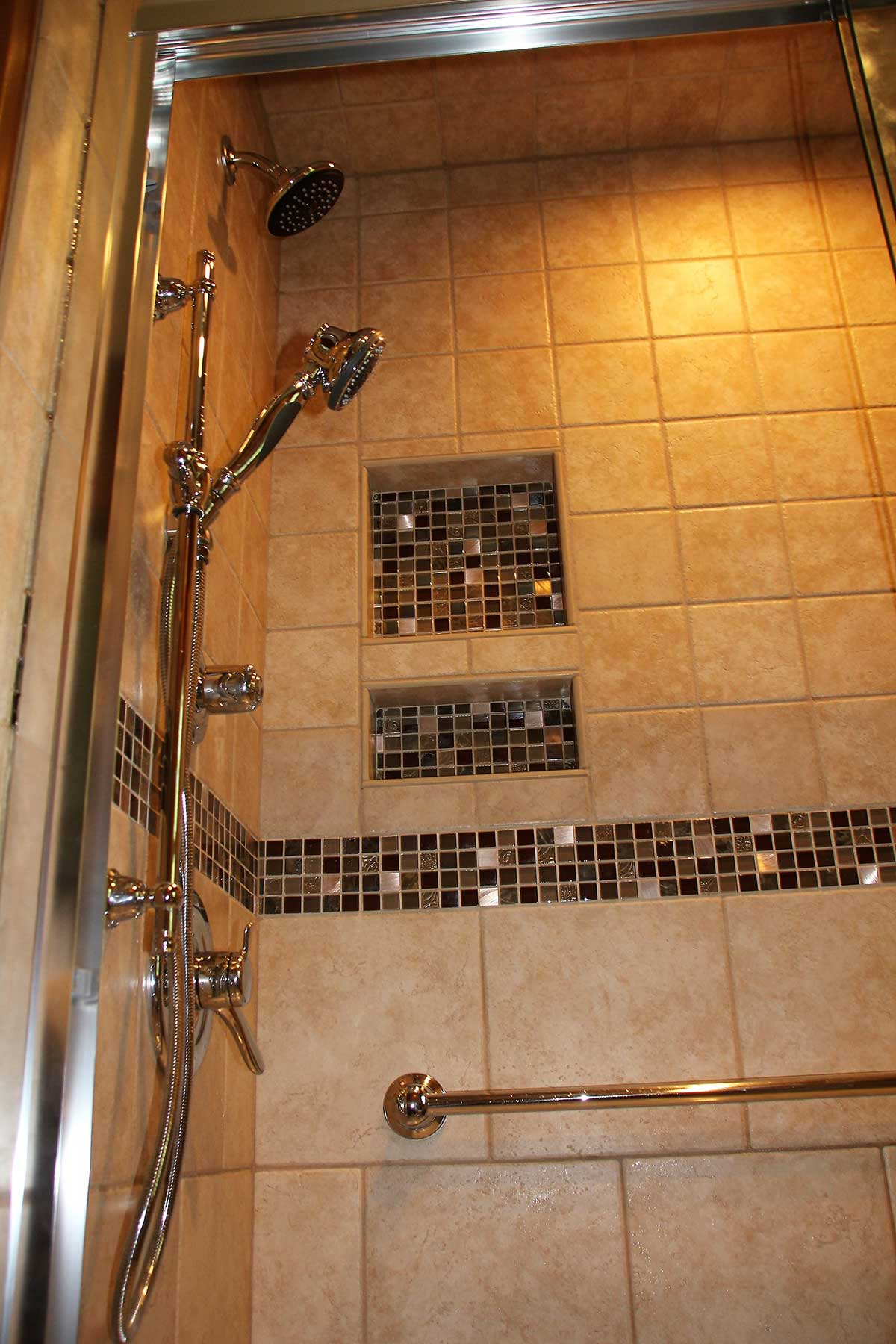 Another view of shower after remodeling