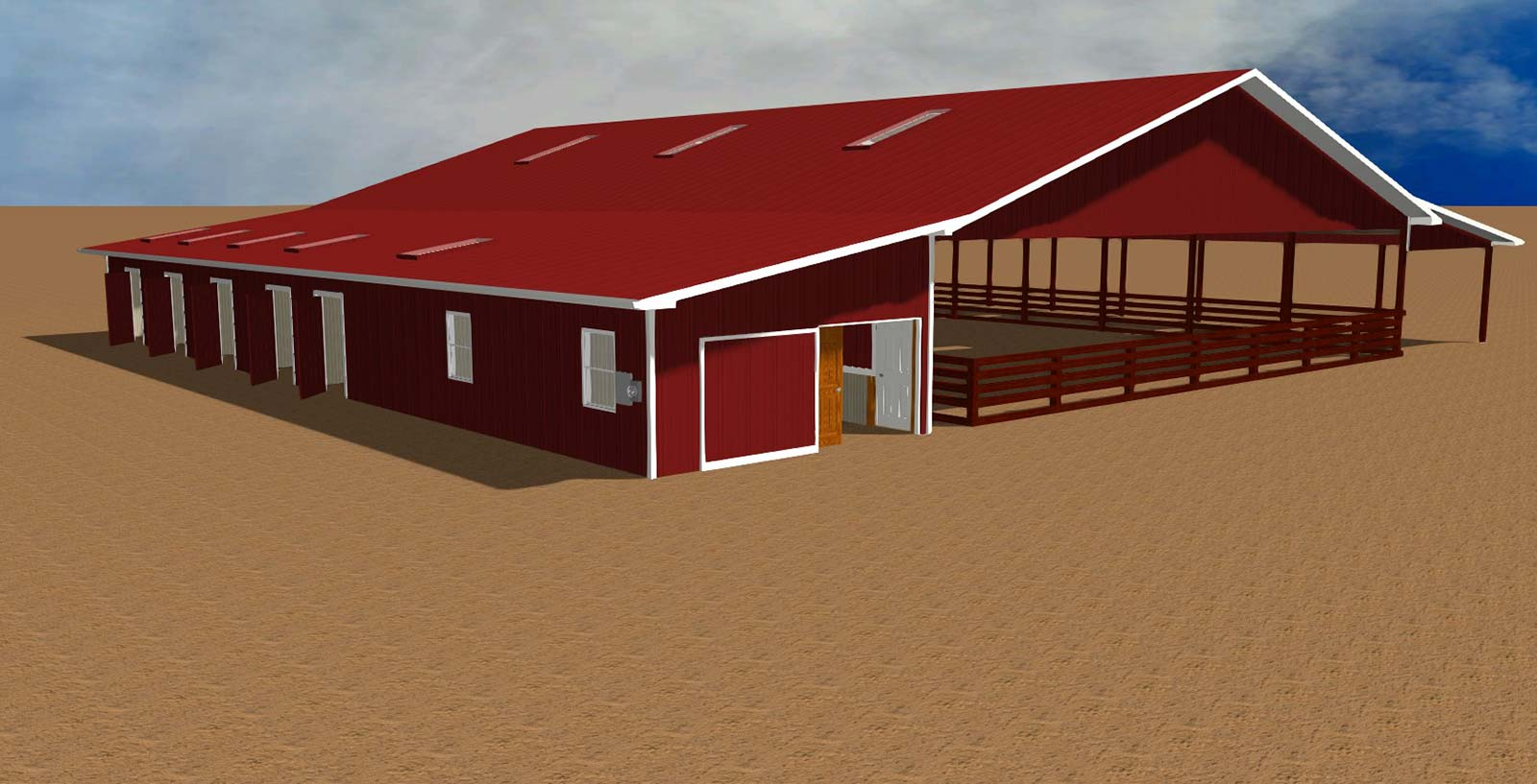 Computer rendering of Equestrian Facility design