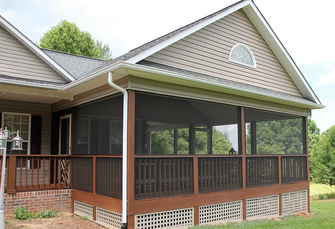 After screen porch addition is completed