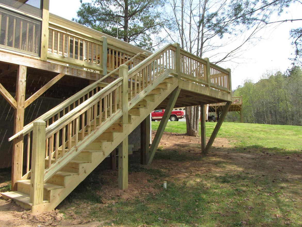 New stairs added to deck
